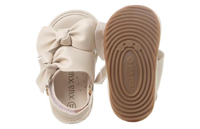 Sandália Infantil Feminina Bambina Laços Offwhite - Xuá Xuá