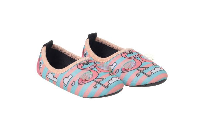 Sapatilha Neoprene Infantil Feminina Soft Fun Flamingo Coral - Xuá Xuá