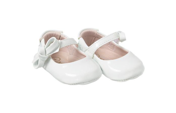 Sapatilha Infantil Feminina Laço Branco Maria Angelina - Xuá Xuá
