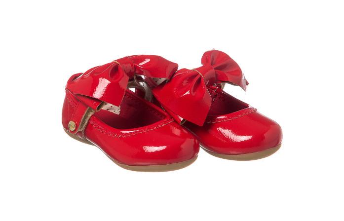 Sapatilha Infantil Feminina Little Woman Laço Vermelho - Xuá Xuá