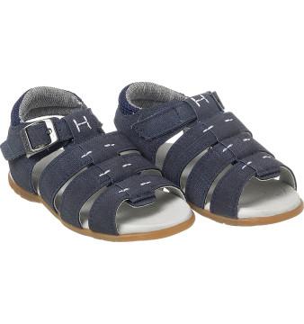 Sandália Infantil Masculina Aventura Jeans Marinho - Xuá Xuá