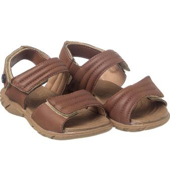 Sandália Infantil Masculina Casual Comfort Chocolate - Xuá Xuá